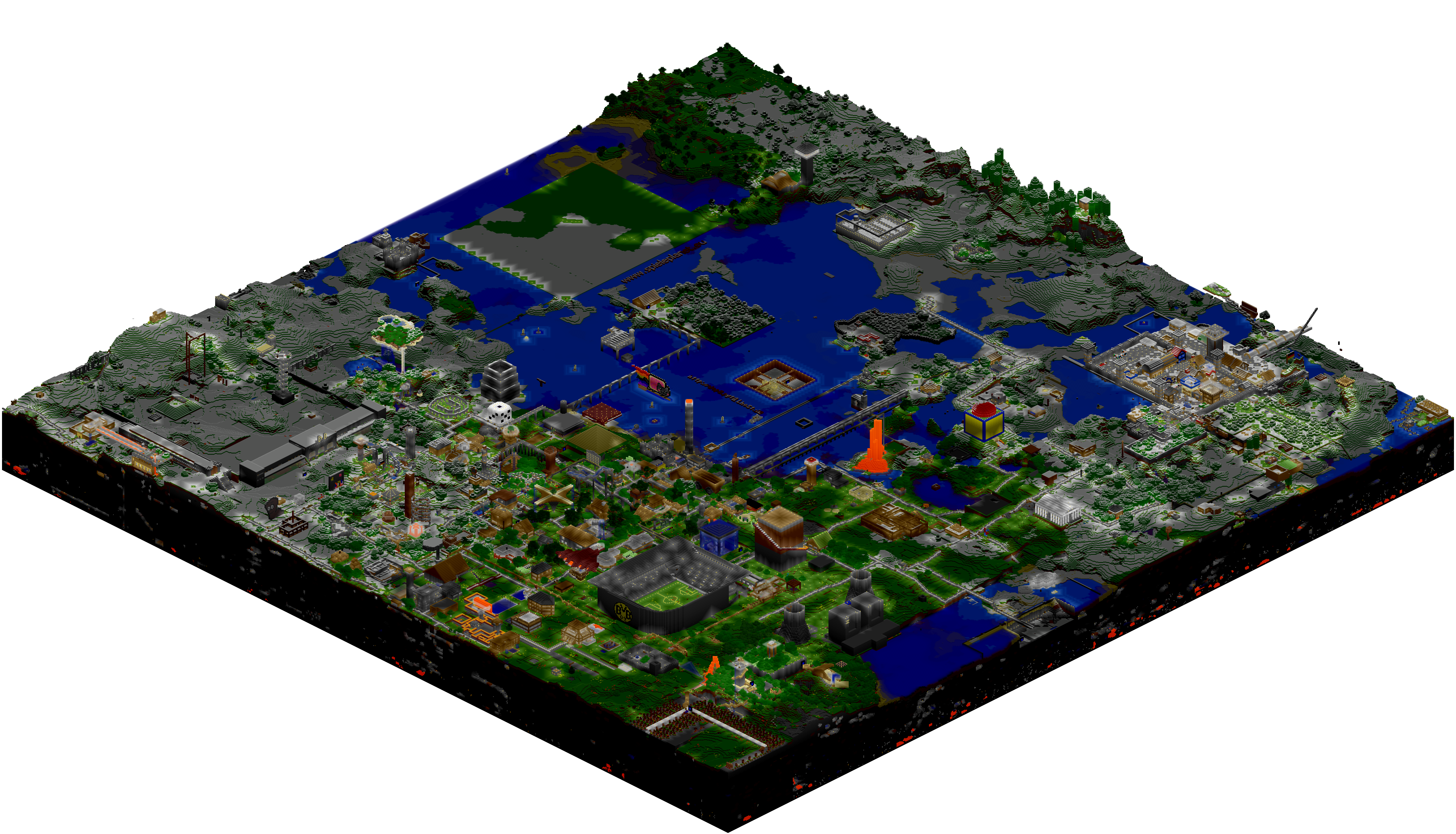Mcmap isometric renders sspsmp minecraft 131 support minecraft forums publicscrutiny Image collections